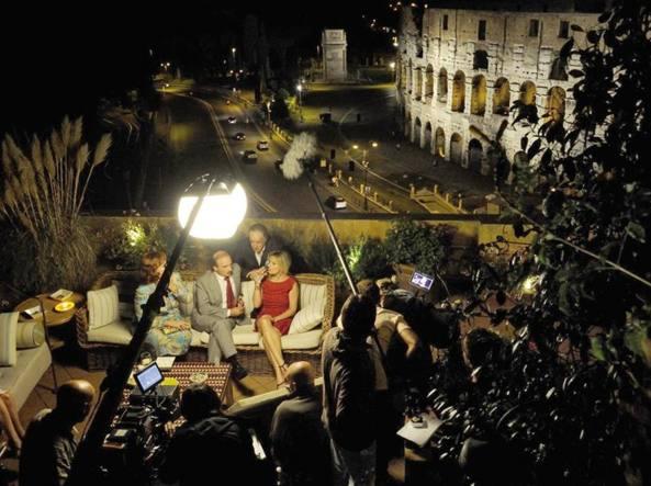 Una immagine del set de La grande bellezza, il film premio Oscar di Paolo Sorrentino