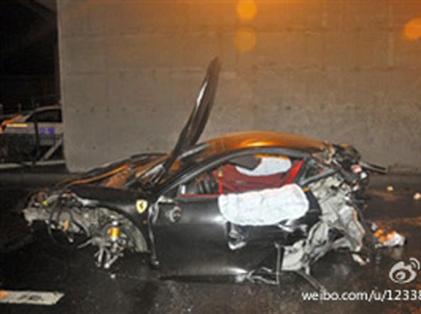 I resti della Ferrari