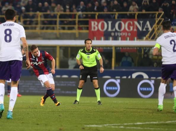Il gol del pareggio di Emanuele Giaccherini (Ansa/Benvenuti)