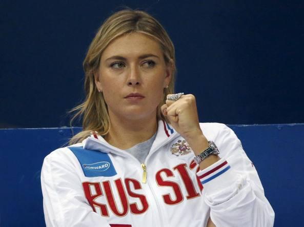 Maria Sharapova in tribuna durante Russia-Olanda (Reuters/Dukor)