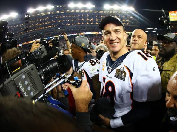 Peyton Manning, il Qb dei Denver Broncos campioni della Nfl (Afp)