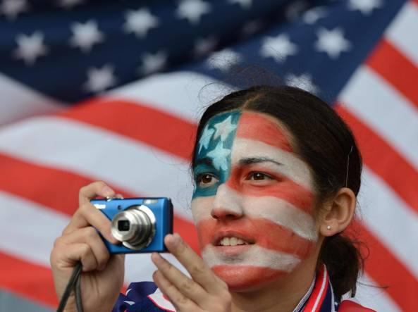 Tifosi americani ai Giochi di Londra 2012. Gli Usa sono la nazione che ha vinto pi� medaglie (Reuters)