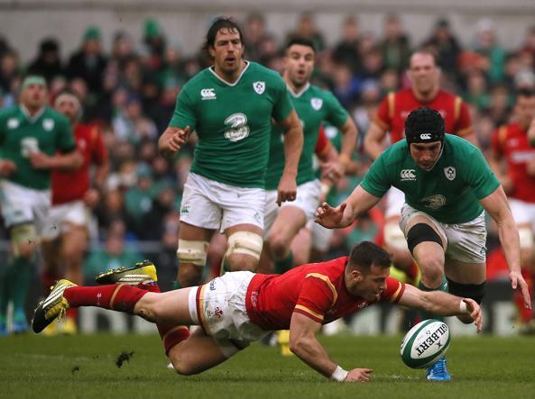 Un momento di Irlanda-Galles (Ap)
