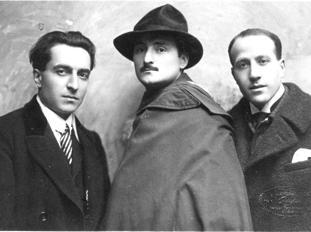 Clemente Rebora con Bruno Furlotti e Michele Cascella