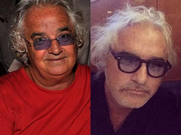 Flavio Briatore, 65 anni,  ieri e oggi