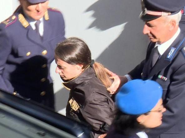 Veronica Panarello in un'udienza in tribunale a Ragusa (Ansa)