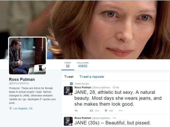 L'account Twitter di Ross Putman