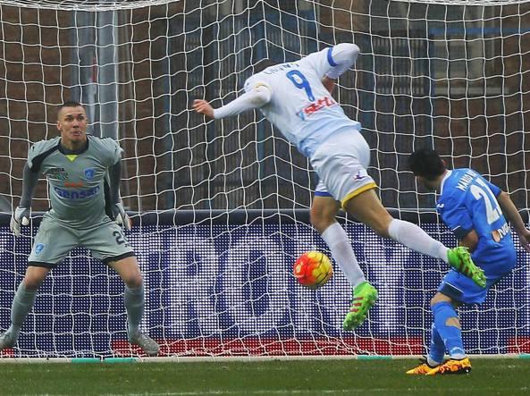 Ciofani firma il primo dei suoi due gol (Ansa/Muzzi)