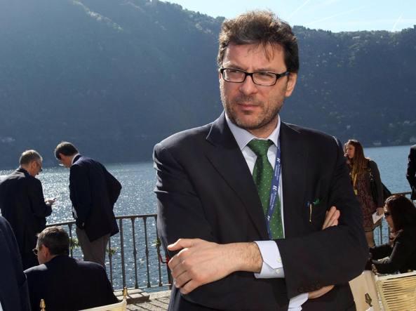 Il deputato della Lega Nord Giancarlo Giorgetti