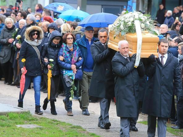 Il funerale di Giulio Regeni, venerdì scorso nel paesino di Fiumicello (Ansa)