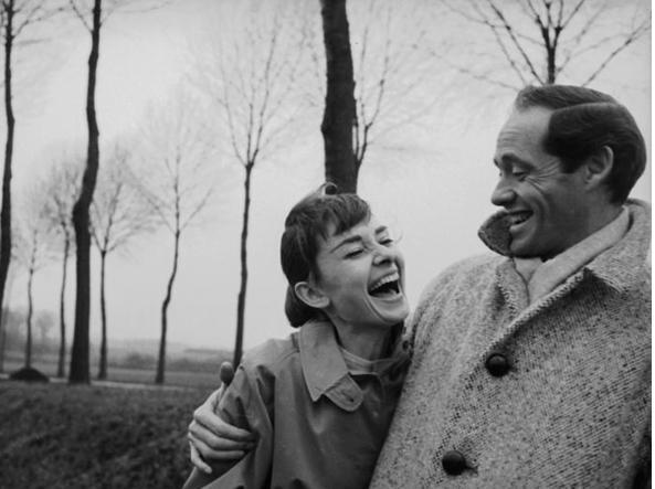 Audrey Hepburn col marito Mel Ferrer