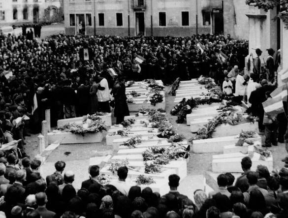 I funerali delle vittime, dopo il 25 aprile
