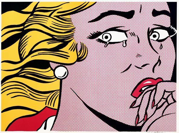 «Crying Girl» di Roy Lichtenstein, 1963 (particolare)