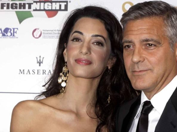 Amal Alamuddin, 38 anni e George Clooney, 54