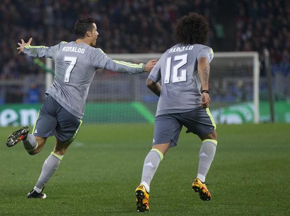 la goia di Ronaldo dopo il gol (Ansa)