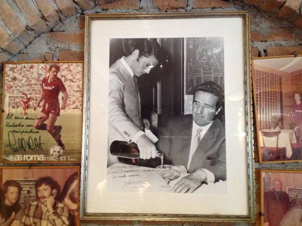 Un giovane Umberto Mancini con Helenio Herrera