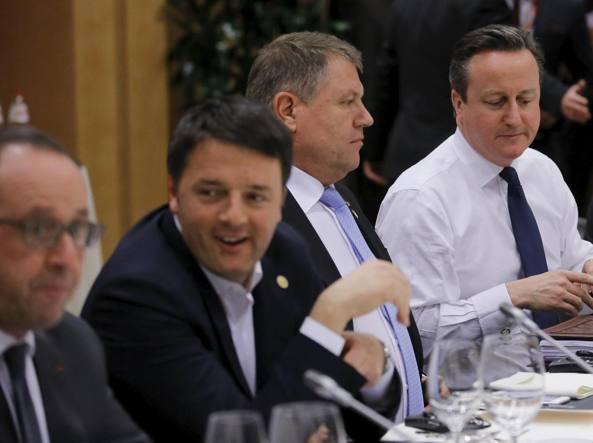Uno scorcio del tavolo dei leader riuniti per discutere della «Brexit» (Reuters)