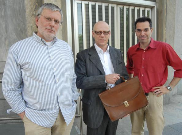 Luca Magni (al centro) l'imprenditore che fece arrestare Mario Chiesa