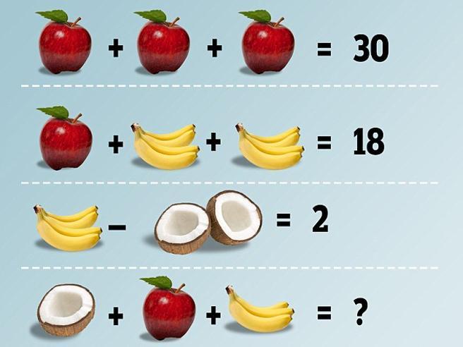 Facebook e la febbre da indovinello Quanto fa cocco più mele più banane?