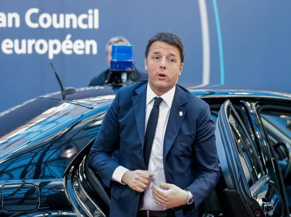 Il premier, Matteo Renzi, a Buxelles (Epa)