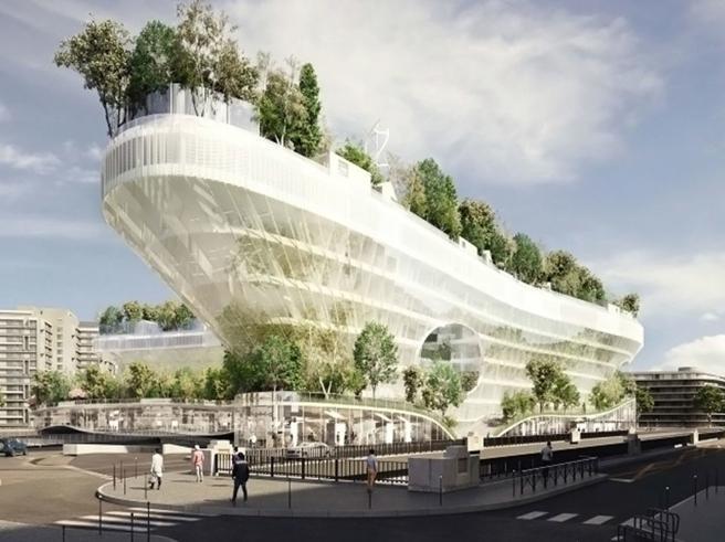 Reinventare Parigi: ecco la nave residenziale con 1000 alberi