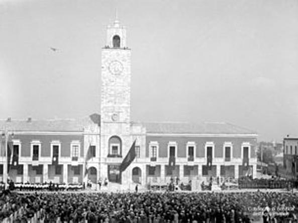 L'inaugurazione di Littoria, oggi Latina, il 18 dicembre 1932