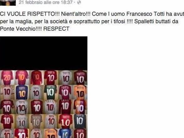 Il messaggio su Facebook a cui Francesca Brienza ha dato il suo like