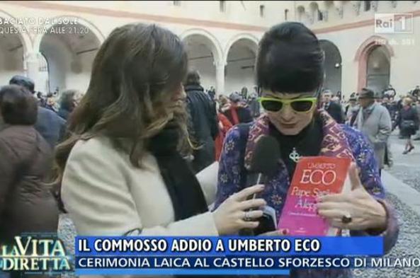 Screenshot della trasmissione di RaiUno