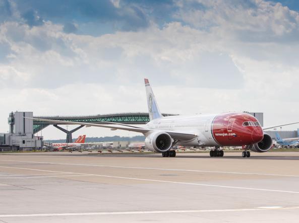 Un Boeing 787 Dreamliner usato da Norwegian per i voli low cost verso gli Usa (foto di Steve Bates)