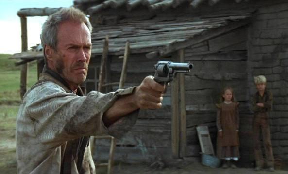 Una scena del film di Eastwood, �Gli spietati�