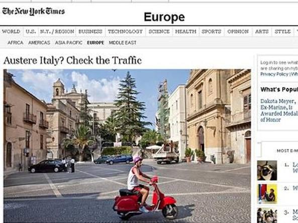 L'articolo dedicato dal New York Times alle vicende del paese di Comitini