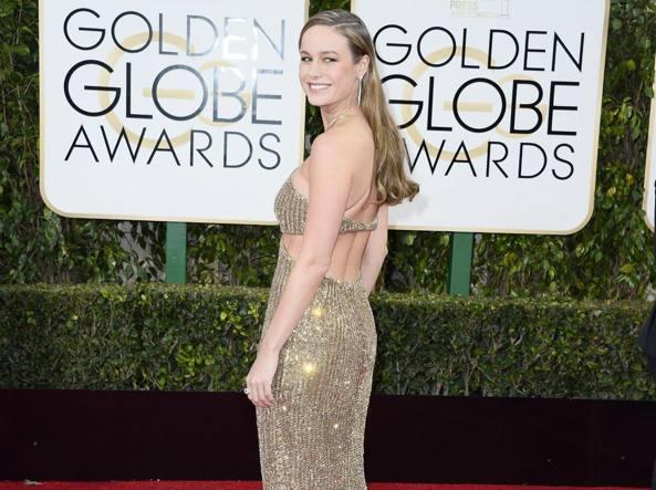Brie Larson sul red carpet dei Golden Globe (Epa)