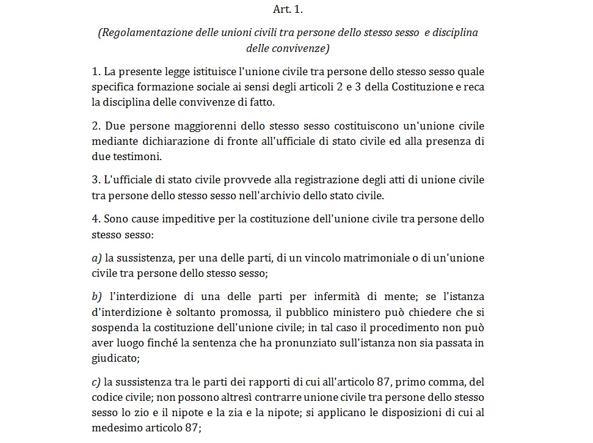 La prima pagina del maxi-emendamento