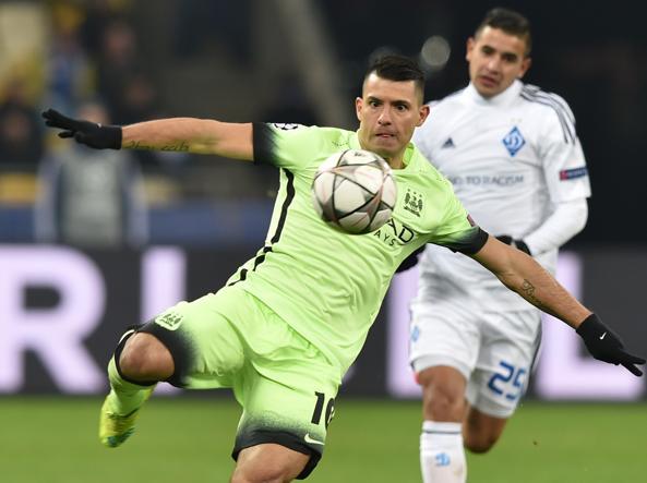 Sergio Aguero in azione (Afp)