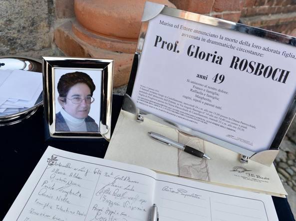 I funerali di Gloria Rosboch (Ansa)