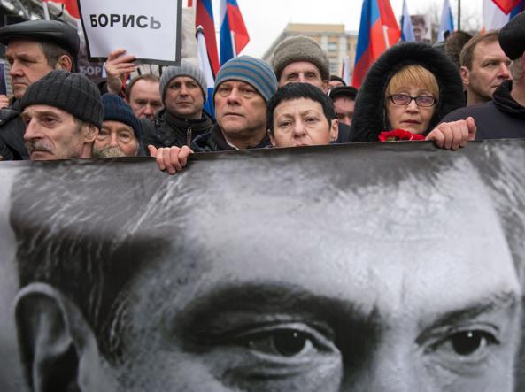 Una manifestazione di protesta a Mosca (Foto Afp)