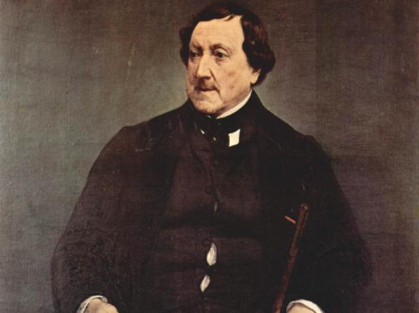 Gioacchino Rossini nel ritratto postumo del 1870 di Francesco Hayez (Pinacoteca di Brera, Milano)