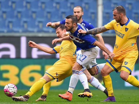 Un momento di Samp-Frosinone (Getty Images)