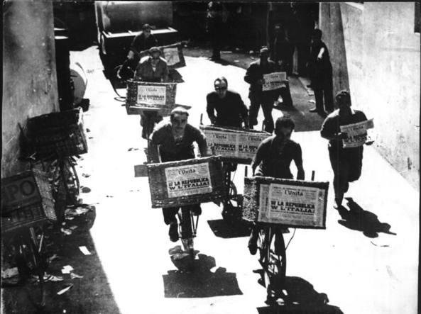 Distribuzione dell'Unit� nel 1946 dopo il referendum