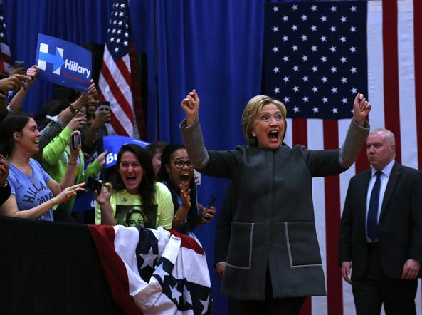 Hillary Clinton in Virginia (Afp)
