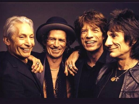 Da sinistra: Charlie Watts, Keith Richards, Mick Jagger e Ronnie Wood