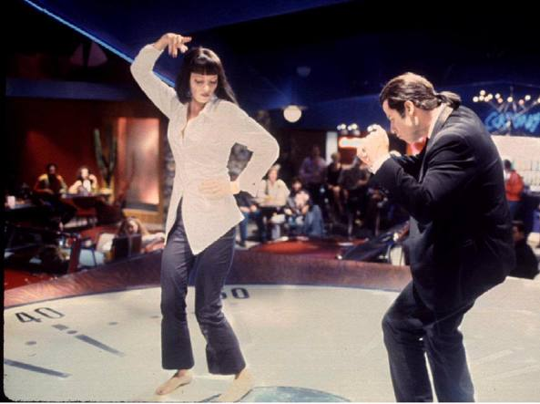Uma Thurman e John Travolta in Pulp Fiction
