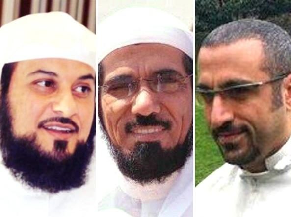 Mohamad Al-Arifi a sinistra, in mezzo Salman Al-Odah, a sinistra Ahmed Al-Shugairi