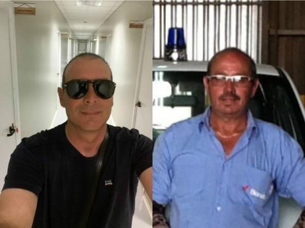 A sinistra Salvatore Failla, 47 anni, a destra Fausto Piano, 61 anni