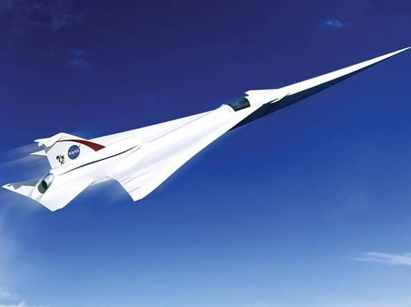 Il progetto di aereo supersonico (Nasa)