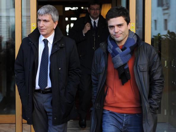 Nichi Vendola e il compagno Eddy Testa (Ansa)