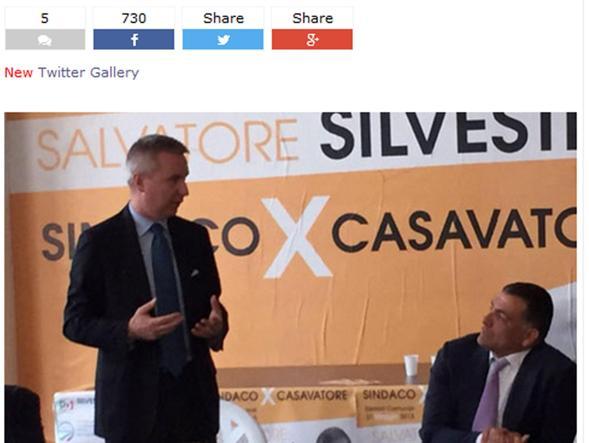 Il vicesegretario Pd Guerini con Salvatore Silvestri in una foto postata sul blog di Beppe Grillo