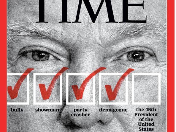L'ultima copertina di «Time»: per il settimanale americano può passare da «bullo» a showman a demagogo.  E infine  il prossimo presidente degli Stati Uniti
