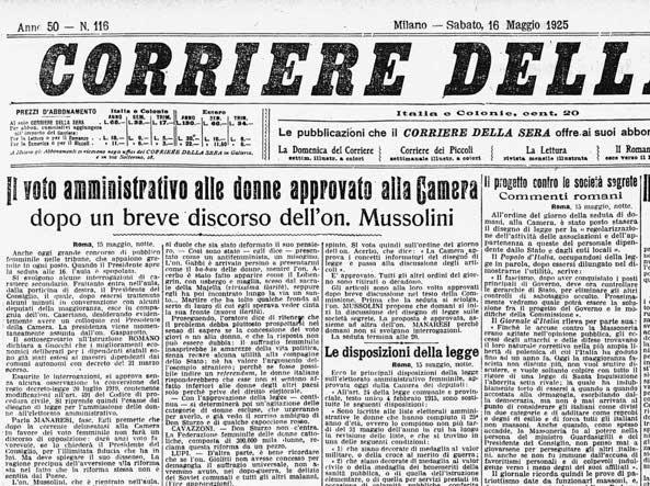 Diritto di voto la lunga lotta delle suffragette italiane - Diva e donne giornale ...