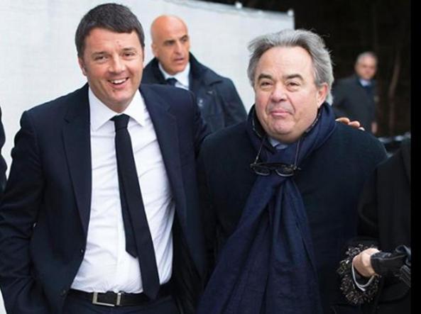Mauro Felicori con Matteo Renzi nell'immagine postata dallo stesso premier
